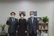 홍주의 회장, 고민정 의원 면담
