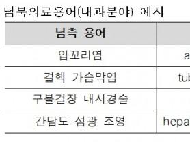 심평원, 내과 분야 '남북의료용어집' 발간 공개